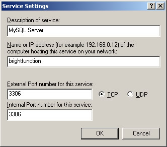 Windows Firewall Service Settings